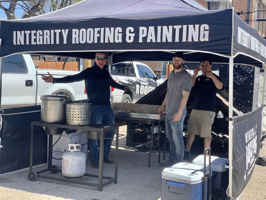 Integrity Roofing & Painting cookout